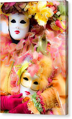Canvas Print featuring the photograph Carnival Mask by Luciano Mortula