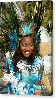 Carnival Moments. Blue Flower Canvas Print by Anna  Duyunova