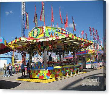 Carnivals Fairs And Festival Art  Canvas Print by Kathy Fornal