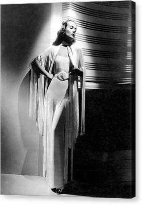 Carole Lombard, Ca. Early 1940s Canvas Print by Everett