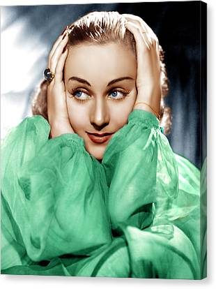 Carole Lombard, Ca. Late 1930s Canvas Print by Everett