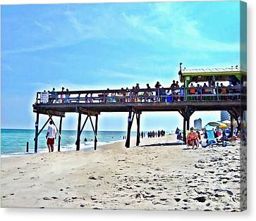 Carolina Beach Tiki Bar Canvas Print