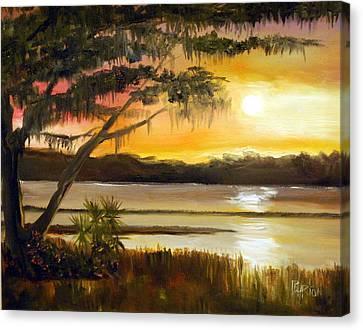 Carolina Sunset Canvas Print by Phil Burton