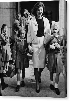 Caroline Kennedy Front Left, Jacqueline Canvas Print by Everett