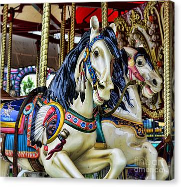 Carousel Horse 2 Canvas Print by Paul Ward