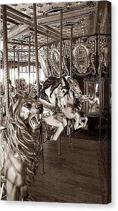 Canvas Print featuring the photograph Carousel by Raymond Earley