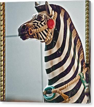 Carousel Zebra Canvas Print by Bill Owen