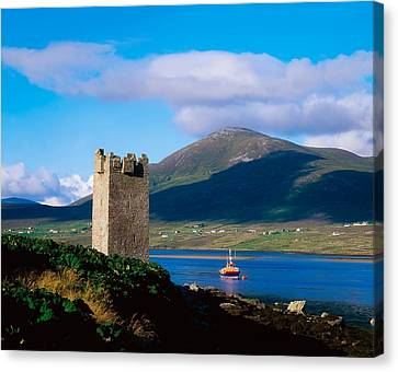 Carrickkildavnet Castle, Achill Island Canvas Print by The Irish Image Collection