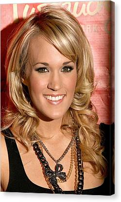 Carrie Underwood At In-store Appearance Canvas Print by Everett