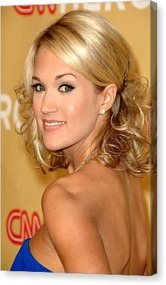 Carrie Underwood In Attendance For Cnn Canvas Print by Everett