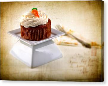 Carrot Cupcake Canvas Print