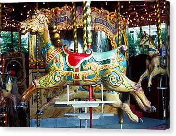 Carrouse Horse Paris France Canvas Print by Garry Gay