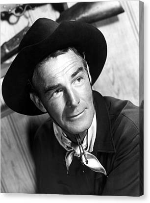 Carson City, Randolph Scott, 1952 Canvas Print by Everett