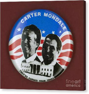 Carter Campaign Button Canvas Print by Granger