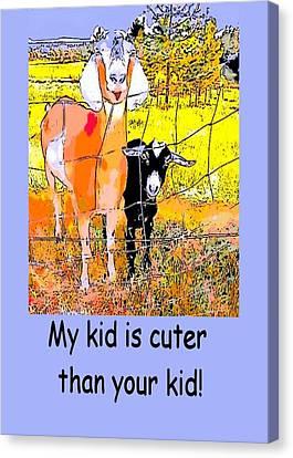 Cartoon Kid Canvas Print by Myrna Migala