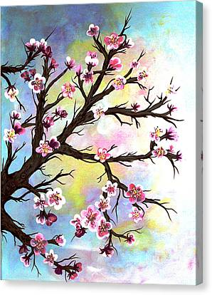 Carved In A Cherry Tree I I Canvas Print by Barbara Griffin
