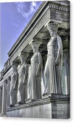 Caryatids Canvas Print - Caryatids Of Science And Industry by David Bearden