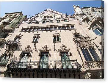 Casa Amatller Building Barcelona Canvas Print by Matthias Hauser
