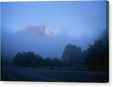Casa Grande, A Peak In The Chisos Canvas Print by Medford Taylor