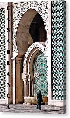 Casablanca Mosque Canvas Print by Linda  Parker