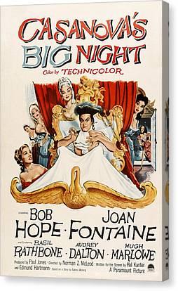 Casanovas Big Night, Joan Fontaine, Bob Canvas Print by Everett