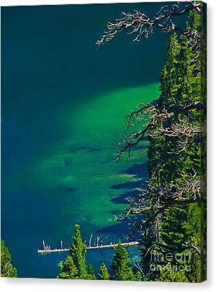 Cascade Lake Inlet Delta Canvas Print