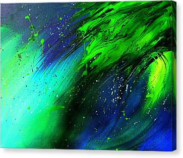 Canvas Print featuring the painting Cascade by Mary Kay Holladay