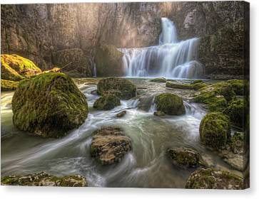 Cascade Of Billaud Canvas Print by Philippe Saire - Photography