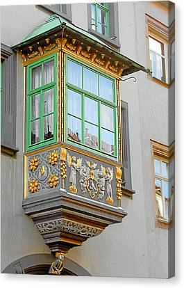 Angel Canvas Print - Casement Window Into Weimar's Past by Christine Till
