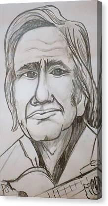 Cash Caricature Canvas Print