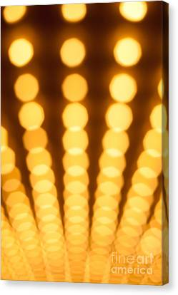 Casino Lights Out Of Focus Canvas Print by Paul Velgos