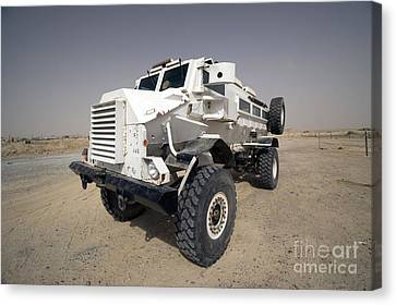 Casper Armored Vehicle Sits Canvas Print by Terry Moore