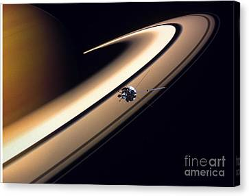 Cassini Spacecraft Canvas Print by Gil Babin and Photo Researchers
