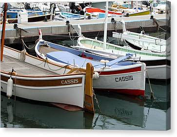 Canvas Print featuring the photograph Cassis Harbor by Carla Parris