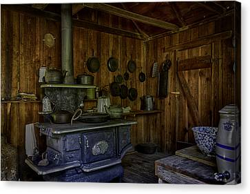 Cast Iron Wood Stove Canvas Print by Lynn Palmer