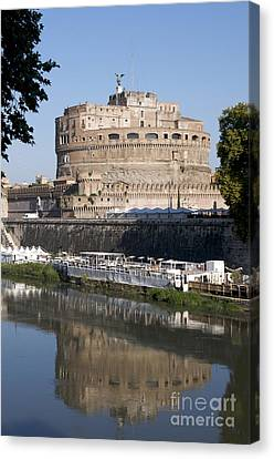 Castel Sant'angelo Castle. Rome Canvas Print by Bernard Jaubert
