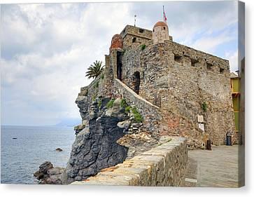 Castello Della Dragonara In Camogli Canvas Print