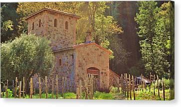 Castillo De Amoroso Farmhouse Napa Valley Canvas Print by George Sylvia