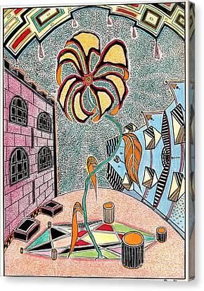Castl Yard Canvas Print by Yury Bashkin