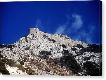 Castle Apalirou Canvas Print by Andonis Katanos
