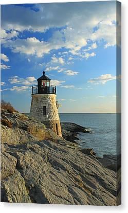 Castle Hill Lighthouse Newport Rhode Island Canvas Print by John Burk