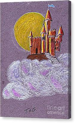 Castle Moon Canvas Print