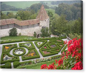 Castle Of Gruyeres Switzerland Canvas Print by Marilyn Dunlap