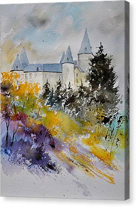 Castle Of Veves Belgium Canvas Print by Pol Ledent