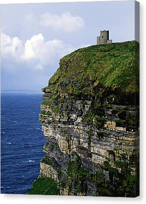 Castle On A Cliff, Obriens Tower Canvas Print by The Irish Image Collection