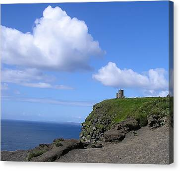 Castle On The Cliffs Of Moher Canvas Print by Bill Cannon