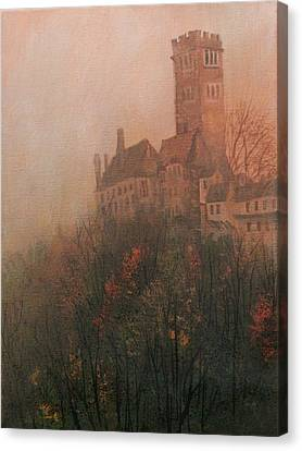 Castle On The Hill Canvas Print by Tom Shropshire