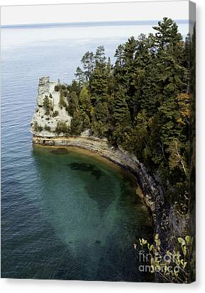 Castle Rock Shoreline Canvas Print by Anne Raczkowski
