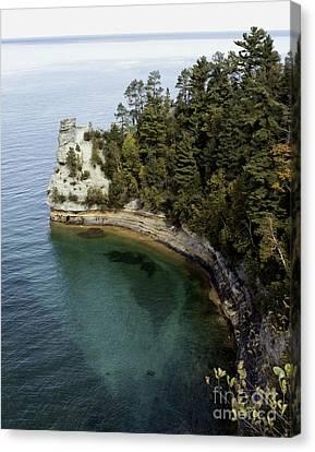 Castle Rock Shoreline Canvas Print