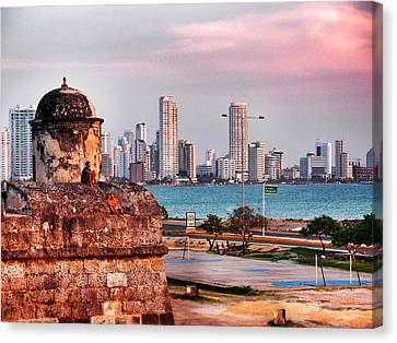 Castles Made Of Sand Canvas Print by Skip Hunt